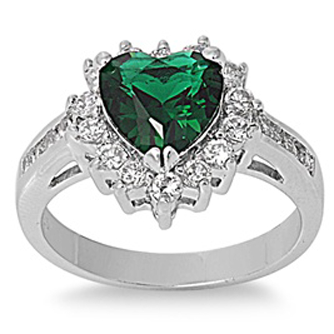 2CT Emerald & White Topaz .925 Sterling Silver Ring Sizes 5-10 in Jewelry & Watches, Fine Jewelry, Fine Rings | eBay